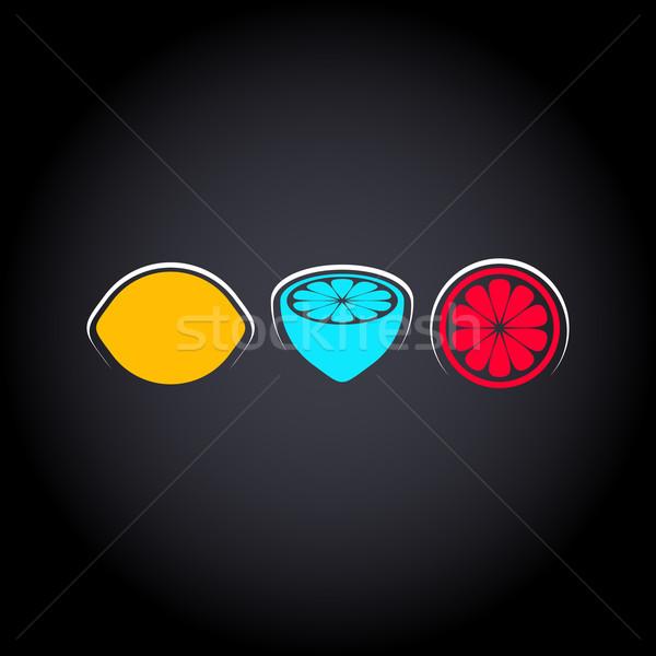 創造 デザイン レモン ベクトル 3  カラフル ストックフォト © blumer1979