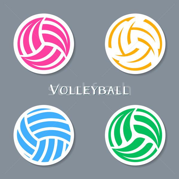 Voleibol bola colorido vetor abstrato Foto stock © blumer1979
