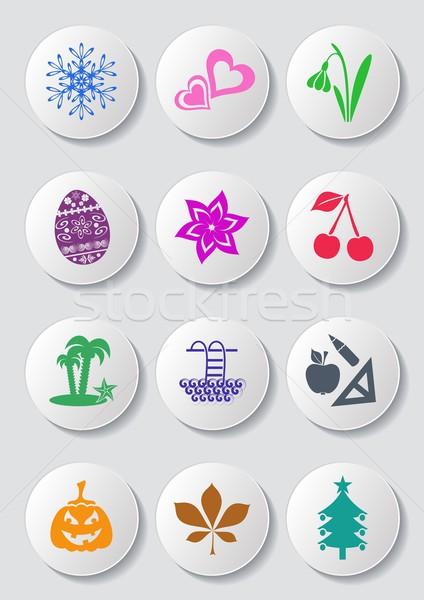 Calendar icons Stock photo © blumer1979
