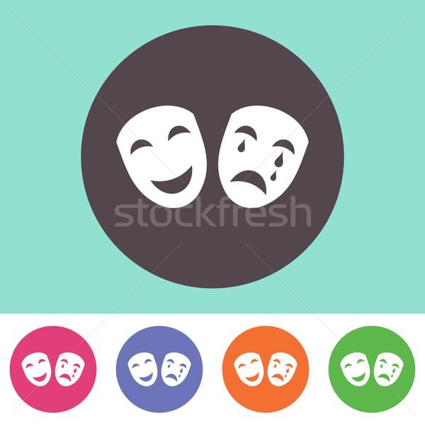 Theatre icon Stock photo © blumer1979