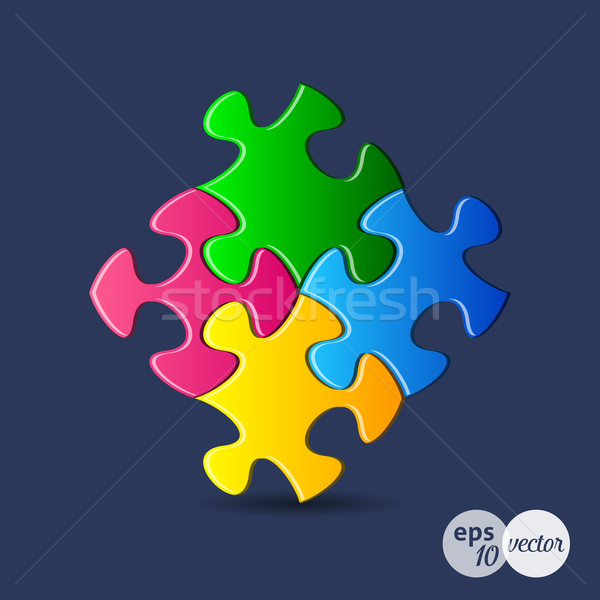 Puzzle pieces Stock photo © blumer1979