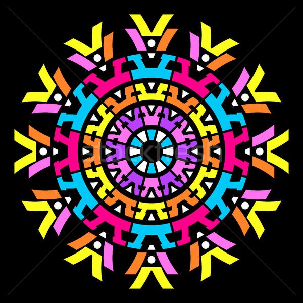 Foto stock: Colorido · vector · resumen · mandala · geométrico · ilustración