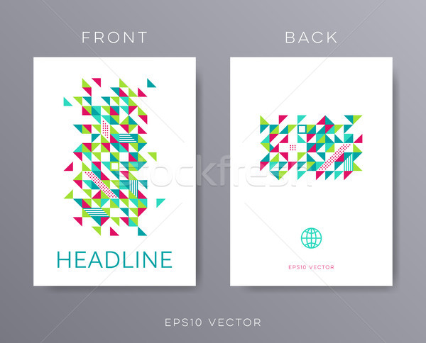 Vector brochure design template mosaic Stock photo © blumer1979
