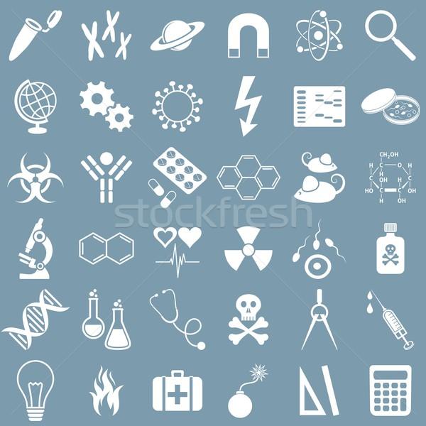 Science icons Stock photo © blumer1979