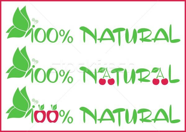 100 per natural Stock photo © blumer1979