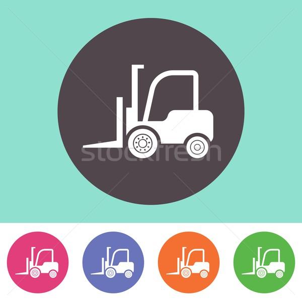 Forklift truck icon Stock photo © blumer1979