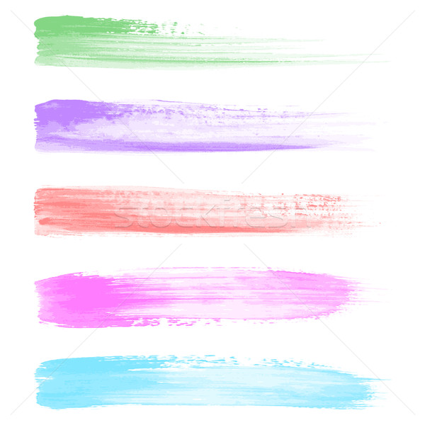 Vector watercolor brush strokes Stock photo © blumer1979
