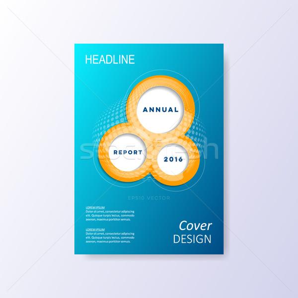 Vector brochure sjabloon lay-out dekken ontwerp Stockfoto © blumer1979