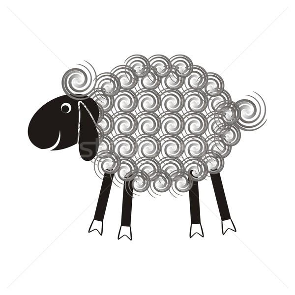 Cute sheep Stock photo © blumer1979
