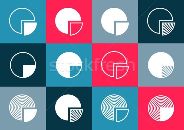 円グラフ 図 アイコン カラフル ベクトル 創造 ストックフォト © blumer1979