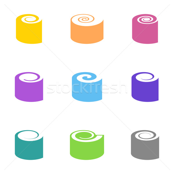 Stock photo: Colorful vector sushi icons