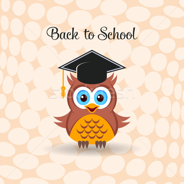 Cute owl with graduation hat Stock photo © blumer1979