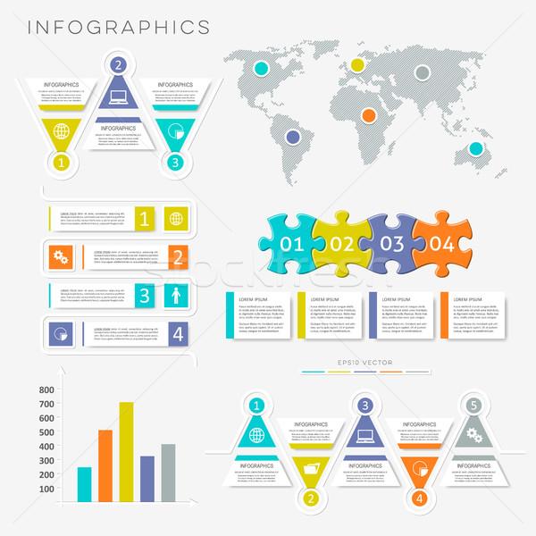 Vector infographic presentation templates Stock photo © blumer1979