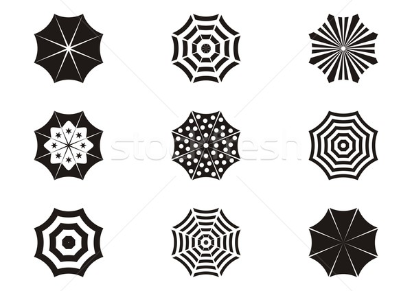 Umbrella icons Stock photo © blumer1979