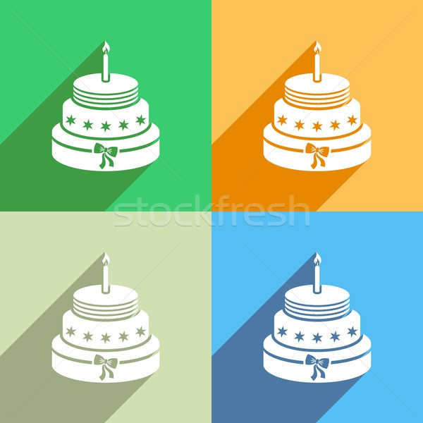 Birthday cake icon Stock photo © blumer1979