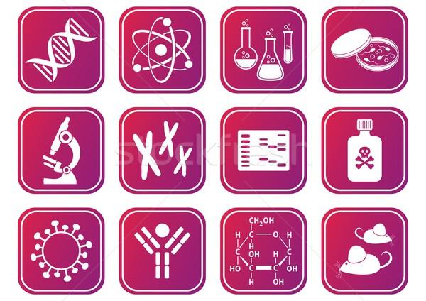 Foto stock: Biologia · ciência · molecular · ícones · ovo