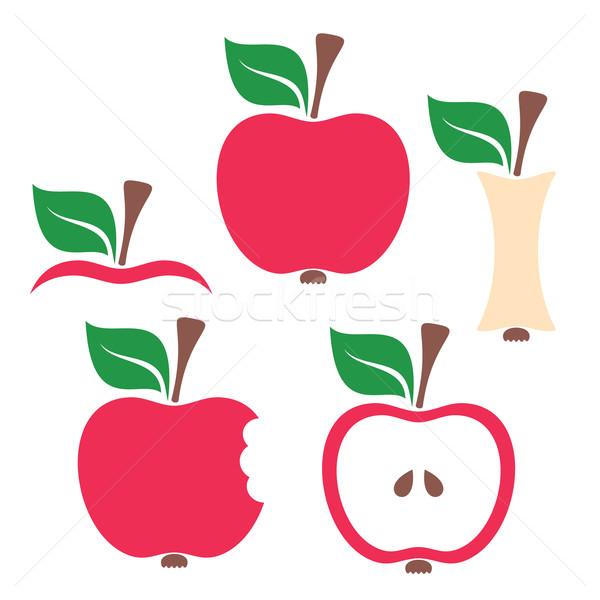 Photo stock: Pomme · design · coloré · vecteur · blanche