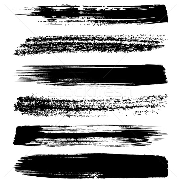 Black brush strokes silhouettes Stock photo © blumer1979