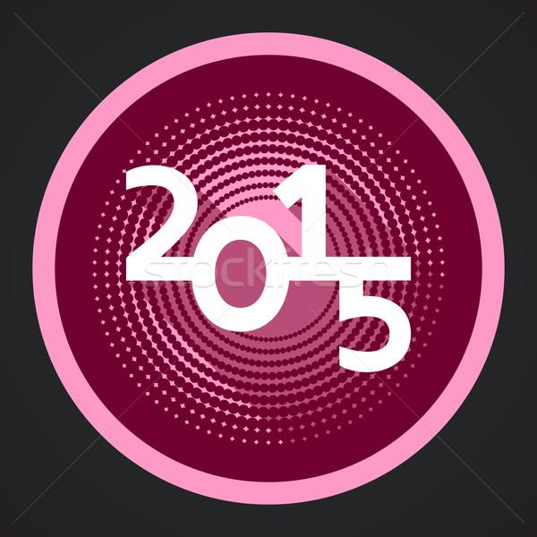 új év 2015 vektor modern piros boldog új évet Stock fotó © blumer1979