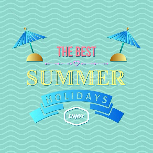 Summer holidays typography Stock photo © blumer1979
