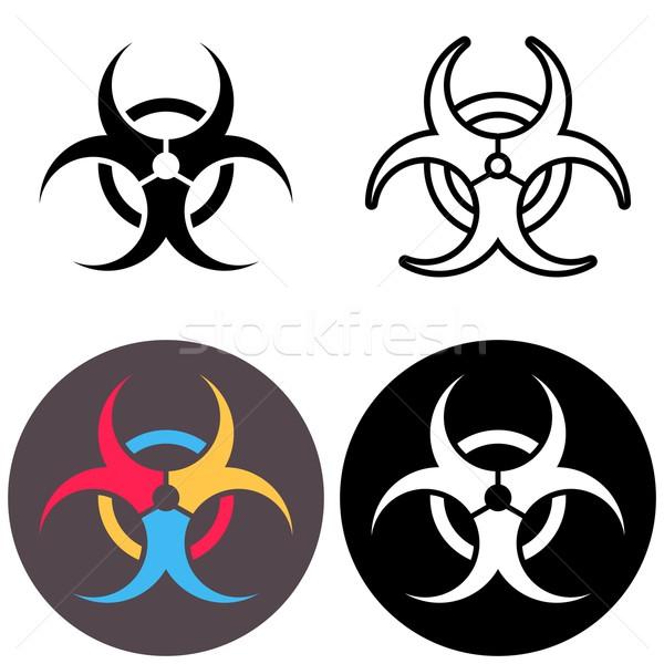 Vector biohazard icons Stock photo © blumer1979