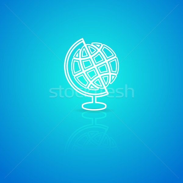 Globe icon Stock photo © blumer1979