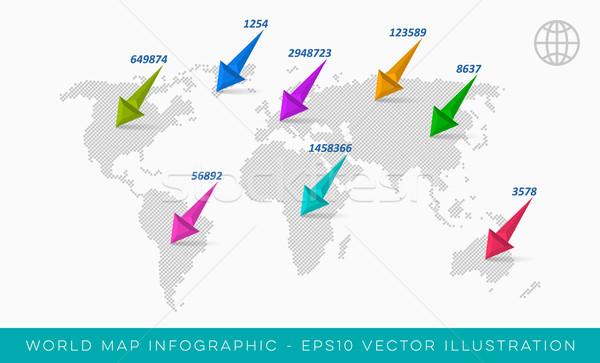 World map infographic template Stock photo © blumer1979