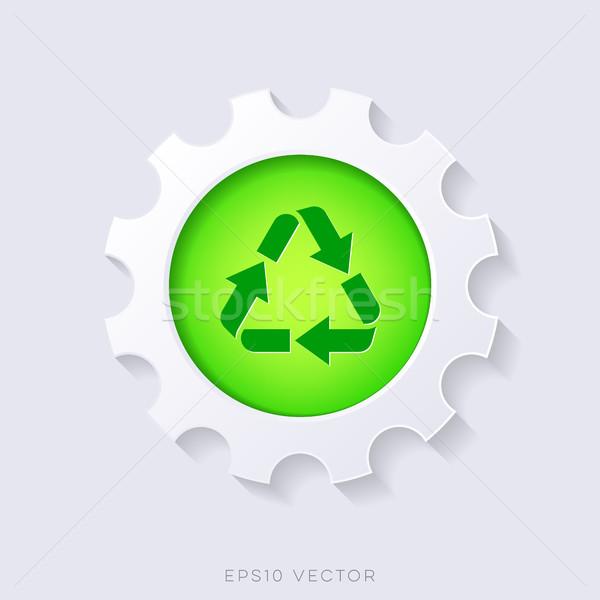 Green vector recycle symbol concept Stock photo © blumer1979