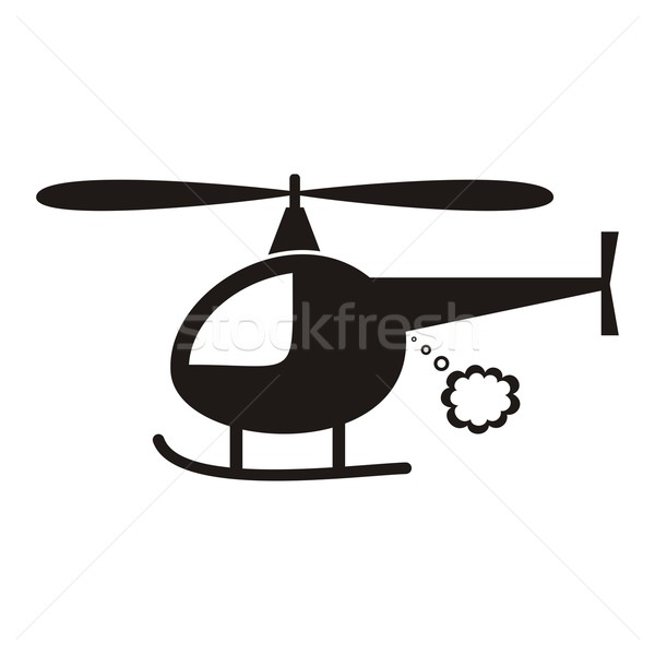 ヘリコプター かわいい 黒 ベクトル アイコン 白 ストックフォト © blumer1979