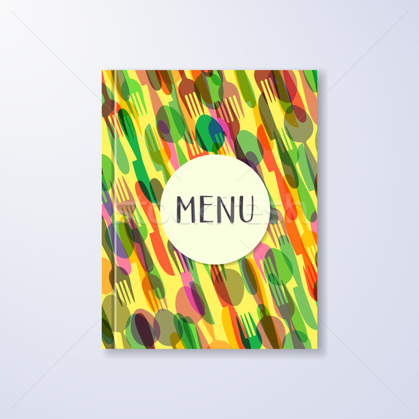 Restaurante menú folleto diseno creativa amarillo Foto stock © blumer1979
