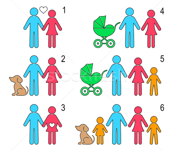 Vector infographic people icons Stock photo © blumer1979