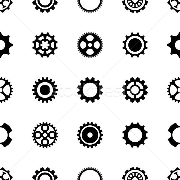 Verschillend versnelling wielen zwarte Stockfoto © blumer1979