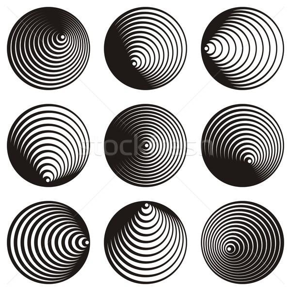 Circle spiral design elements Stock photo © blumer1979