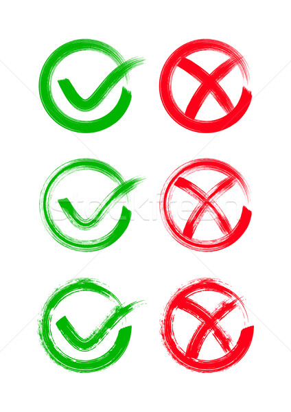 Check mark icons Stock photo © blumer1979