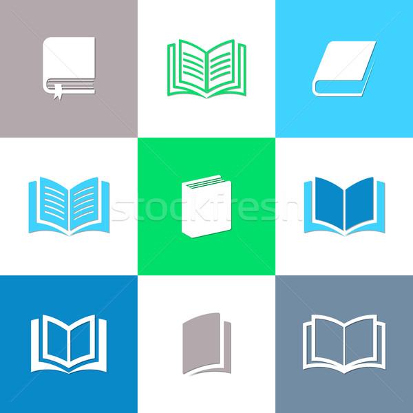 Vector book icons collection Stock photo © blumer1979