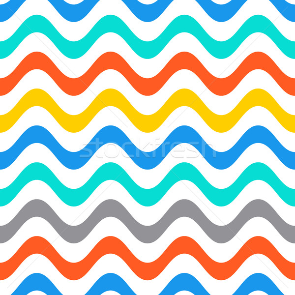 Seamless summer wavy line pattern Stock photo © blumer1979