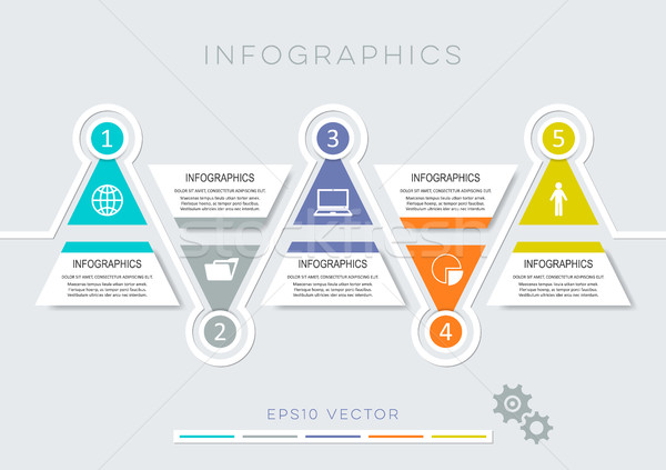Colorful modern infographic options Stock photo © blumer1979