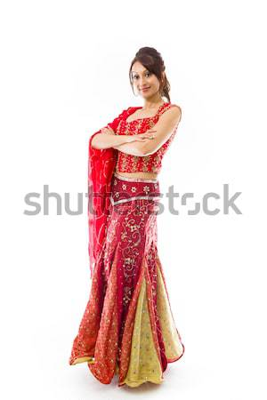 Indian jonge vrouw permanente volwassen vrouw Stockfoto © bmonteny