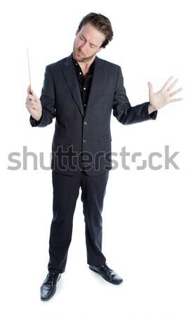 Zakenman teken beide handen business Stockfoto © bmonteny