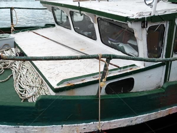 Vissersboot water boot touw fotografie Stockfoto © bmonteny