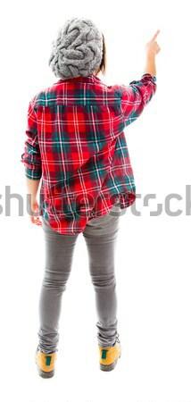 Hátsó nézet fiatal nő áll fiatal felnőtt kaukázusi nő Stock fotó © bmonteny