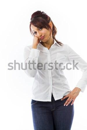 Indian jeune femme regarder s'ennuie adulte femme Photo stock © bmonteny