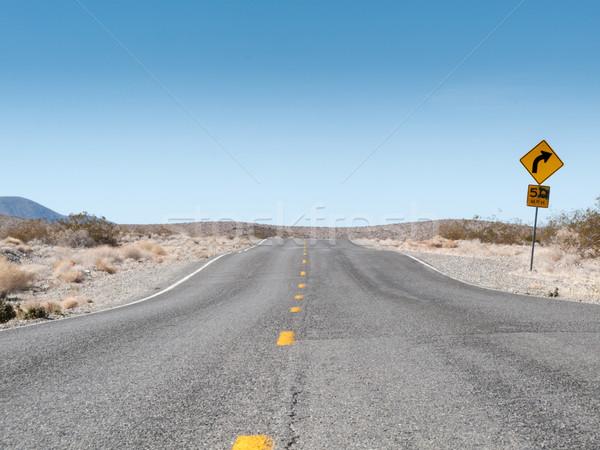 Stok fotoğraf: Yol · manzara · ölüm · vadi · park · Kaliforniya