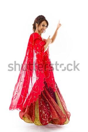 Jovem indiano mulher para baixo Foto stock © bmonteny
