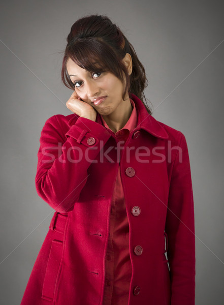 Bored Indian young woman with head in hands Stock photo © bmonteny