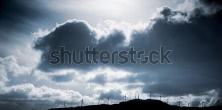 Zon wolken Quebec Canada water Stockfoto © bmonteny