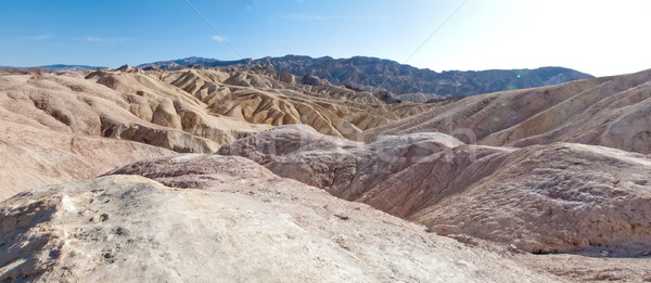 Rock formation at landscape, Zabriskie Point, Death Valley Natio Stock photo © bmonteny
