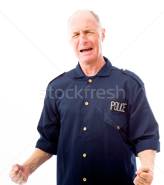 Policeman shouting in frustration Stock photo © bmonteny