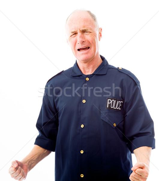 Policier déception police énergie vieillard Photo stock © bmonteny