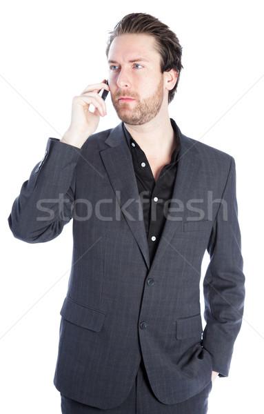 Attractive caucasian man shot in studio Stock photo © bmonteny